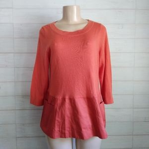 Anthropologie Moth Pullover Sweater with pockets